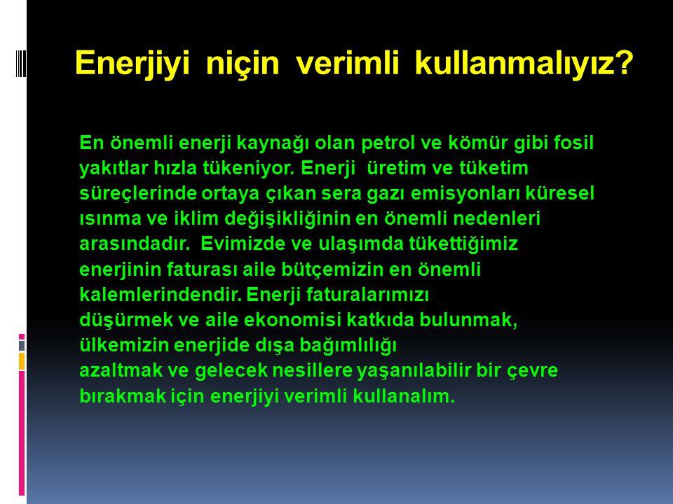 Enerjiyi niçin verimli kullanmalıyız