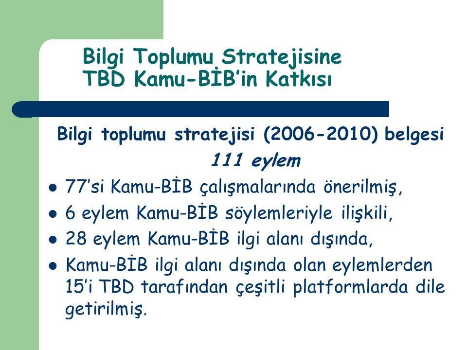 Bilgi Toplumu Stratejisine TBD Kamu-BİB'in Katkısı