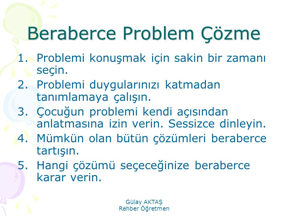 Beraberce Problem Çözme