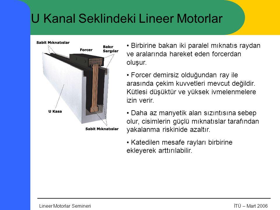 U Kanal Seklindeki Lineer Motorlar