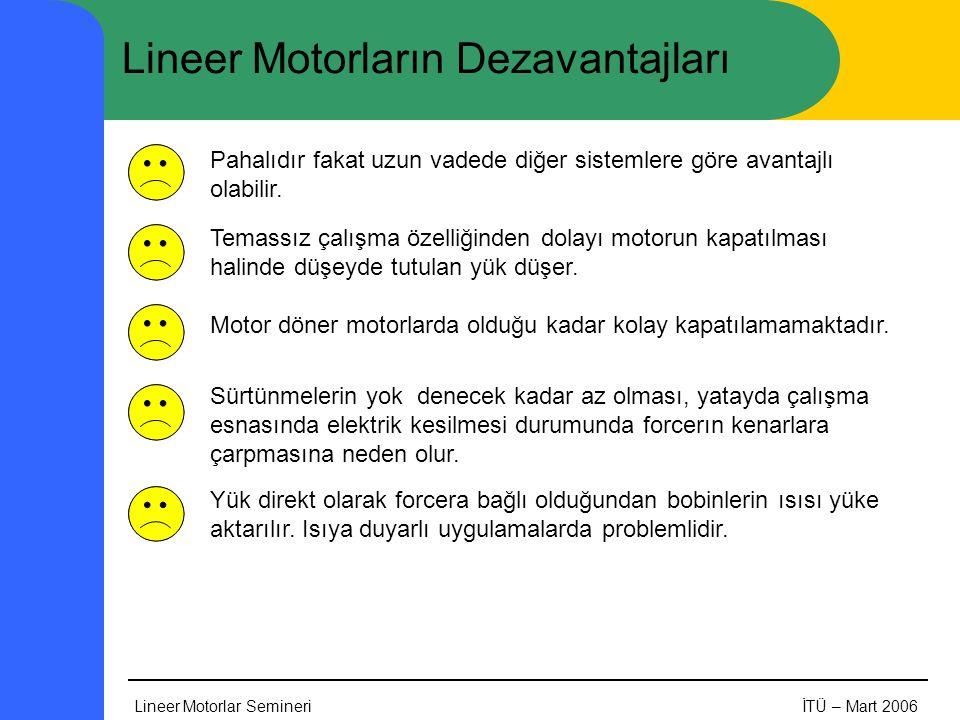 Lineer Motorların Dezavantajları