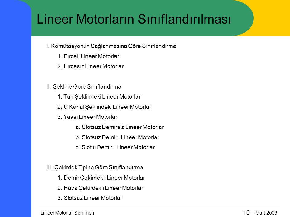 Lineer Motorların Sınıflandırılması