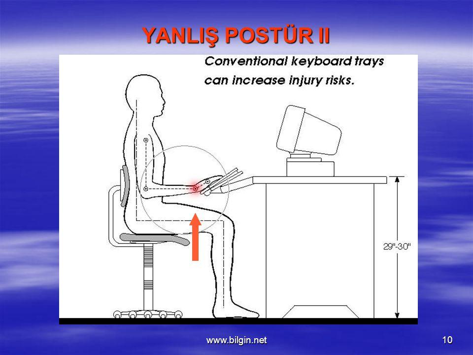 YANLIŞ POSTÜR II www.bilgin.net