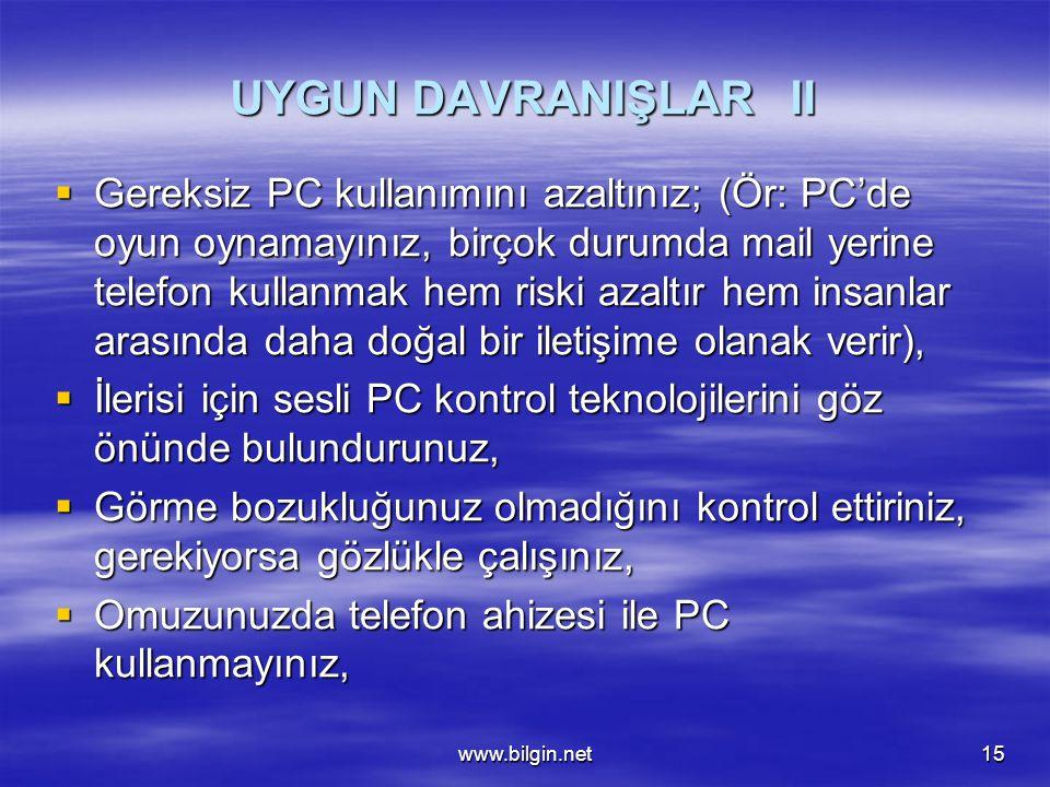 UYGUN DAVRANIŞLAR II