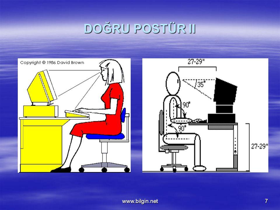 DOĞRU POSTÜR II www.bilgin.net
