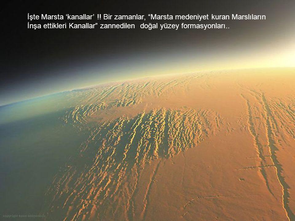 İşte Marsta 'kanallar'