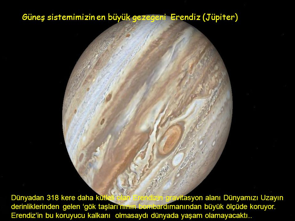 Güneş sistemimizin en büyük gezegeni Erendiz (Jüpiter)