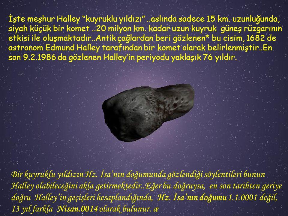 İşte meşhur Halley kuyruklu yıldızı . aslında sadece 15 km