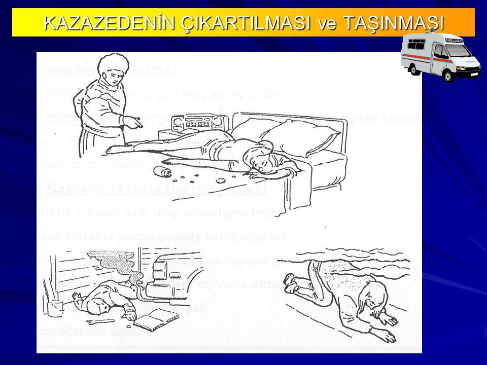 KAZAZEDENİN ÇIKARTILMASI ve TAŞINMASI