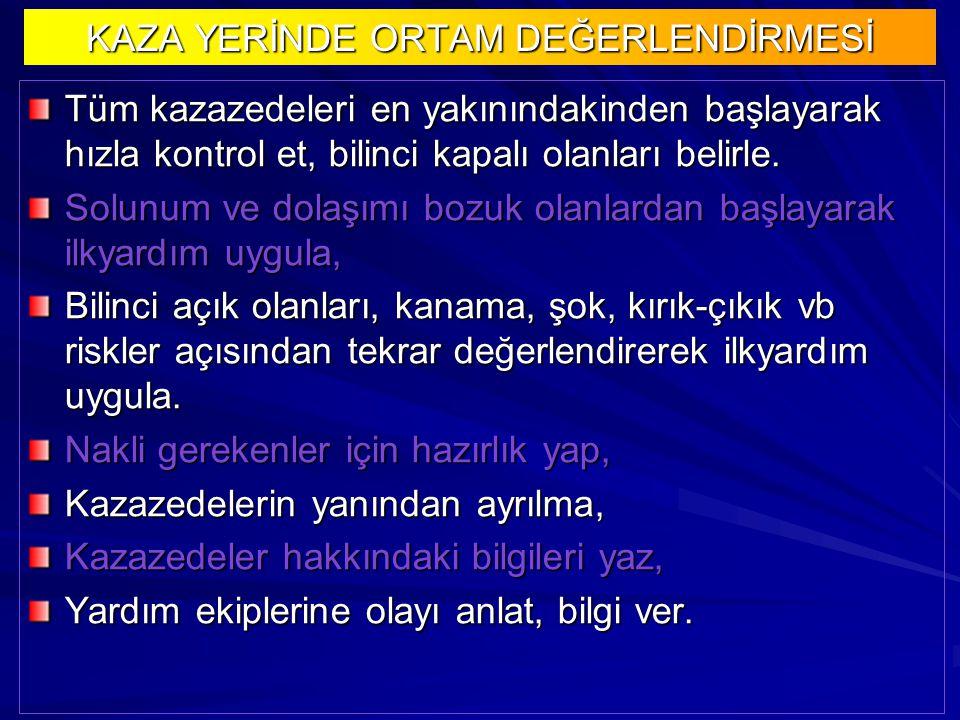 KAZA YERİNDE ORTAM DEĞERLENDİRMESİ