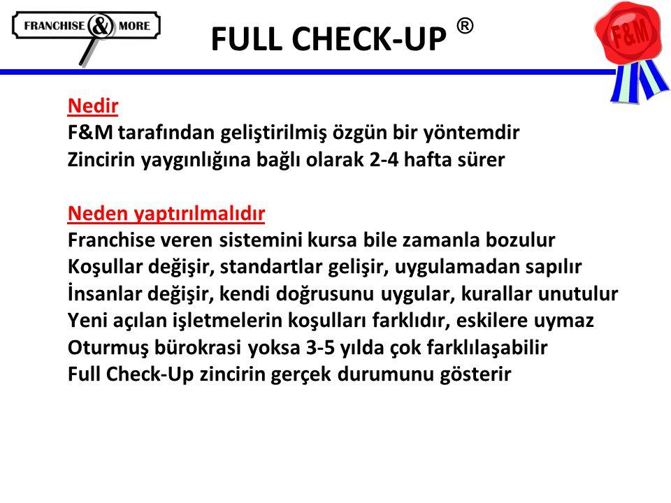 FULL CHECK-UP ® Nedir F&M tarafından geliştirilmiş özgün bir yöntemdir
