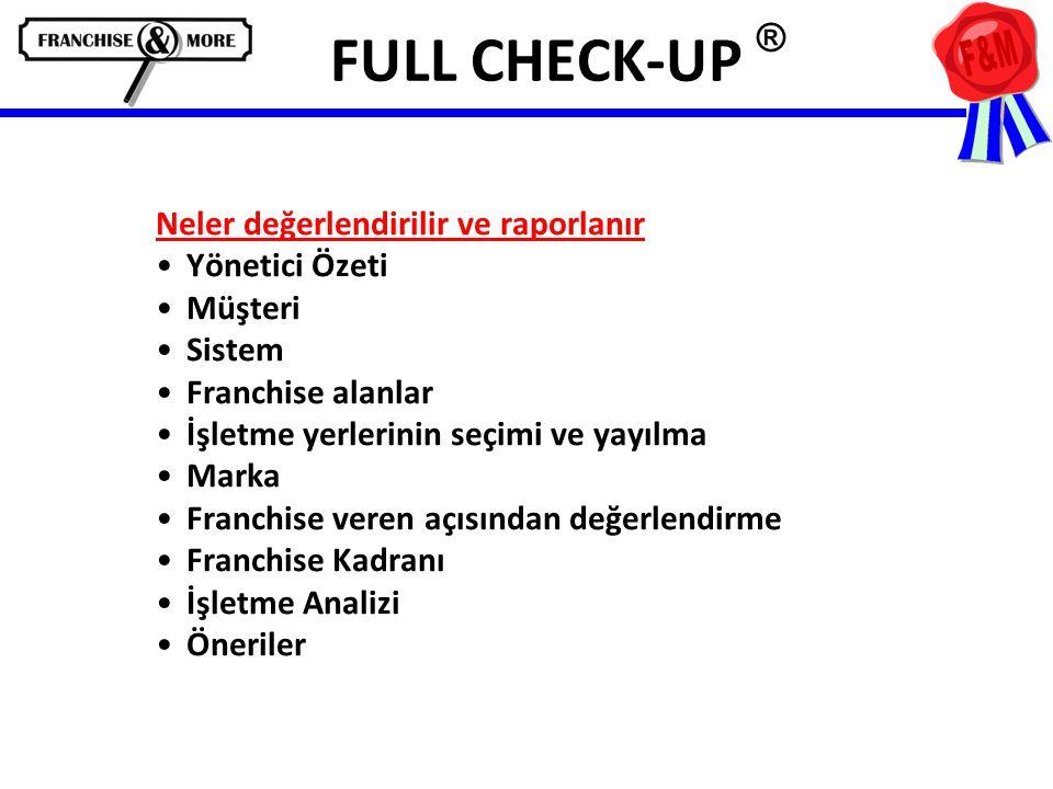 FULL CHECK-UP ® Neler değerlendirilir ve raporlanır Yönetici Özeti