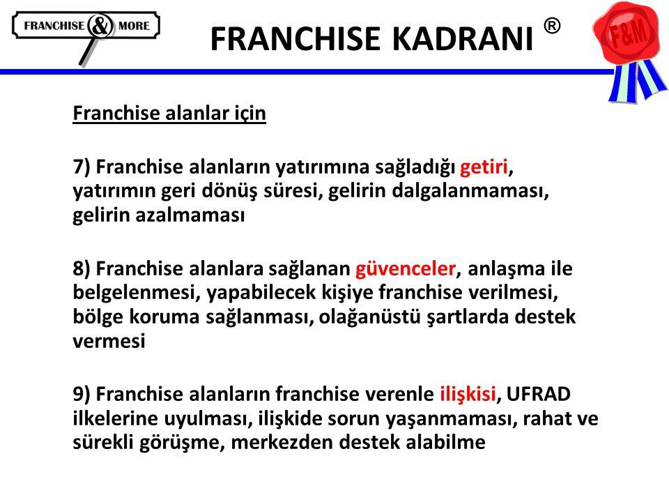 FRANCHISE KADRANI ® Franchise alanlar için