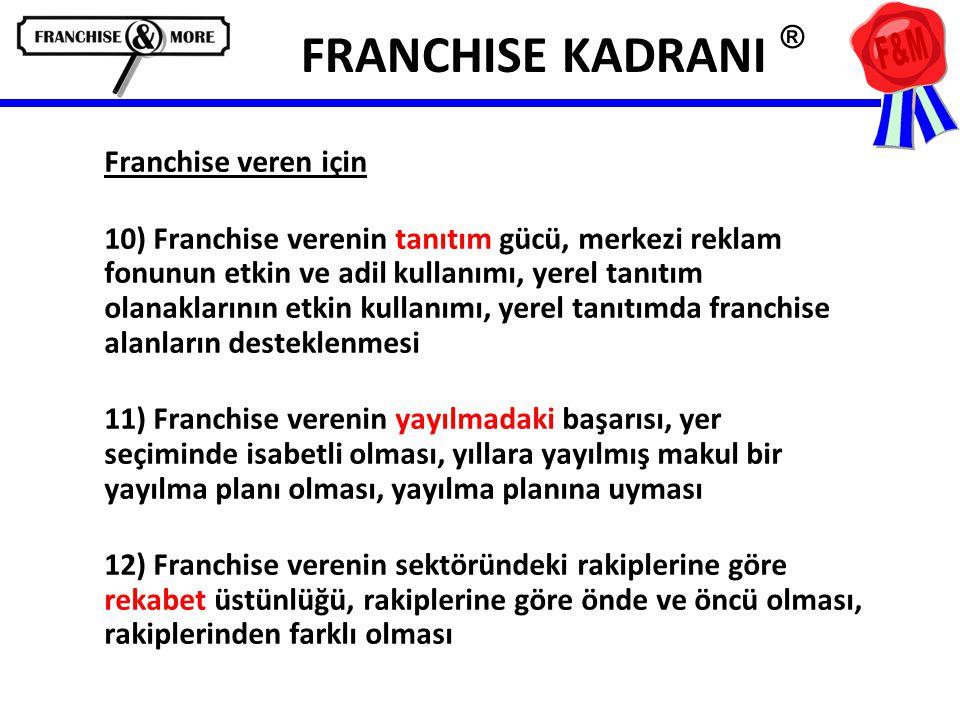 FRANCHISE KADRANI ® Franchise veren için