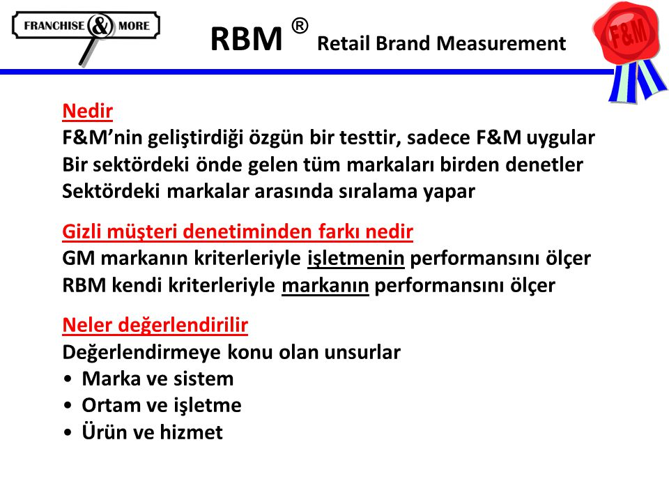 RBM ® Retail Brand Measurement