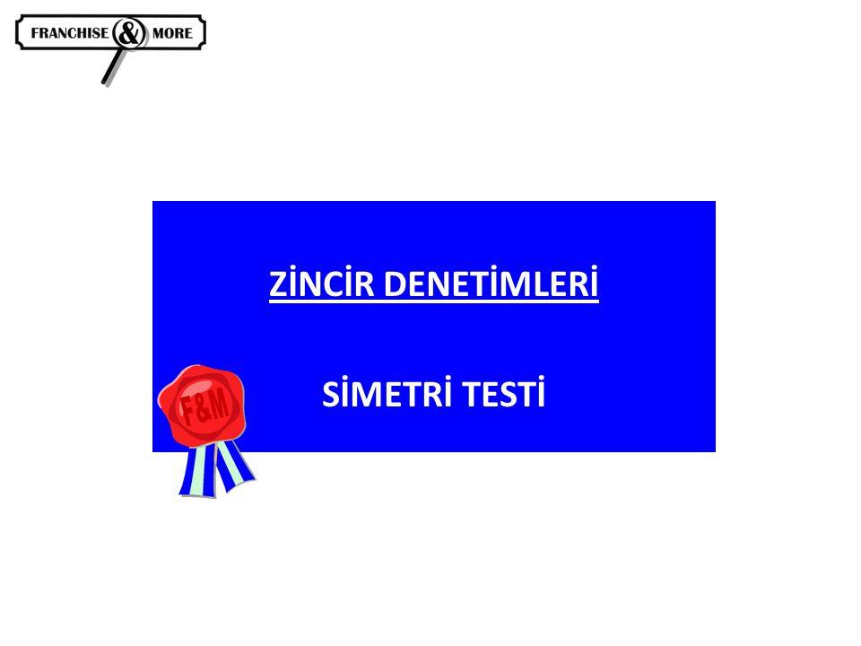 ZİNCİR DENETİMLERİ SİMETRİ TESTİ