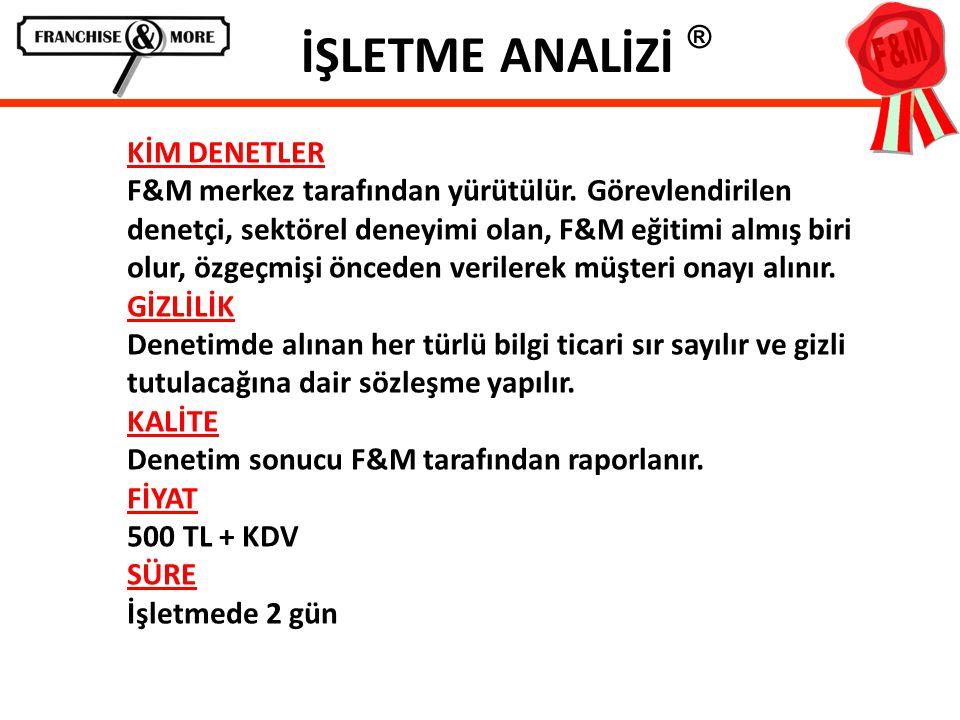 İŞLETME ANALİZİ ®