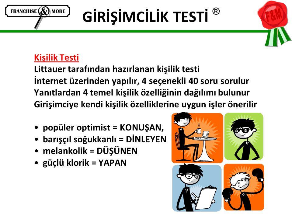 GİRİŞİMCİLİK TESTİ ® Kişilik Testi
