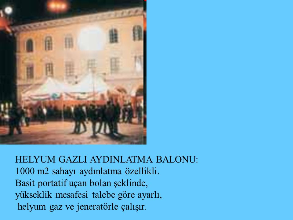 HELYUM GAZLI AYDINLATMA BALONU: