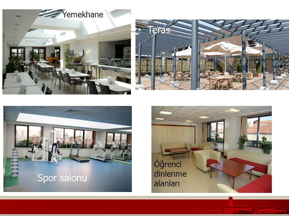Yemekhane Teras Spor salonu Öğrenci dinlenme alanları
