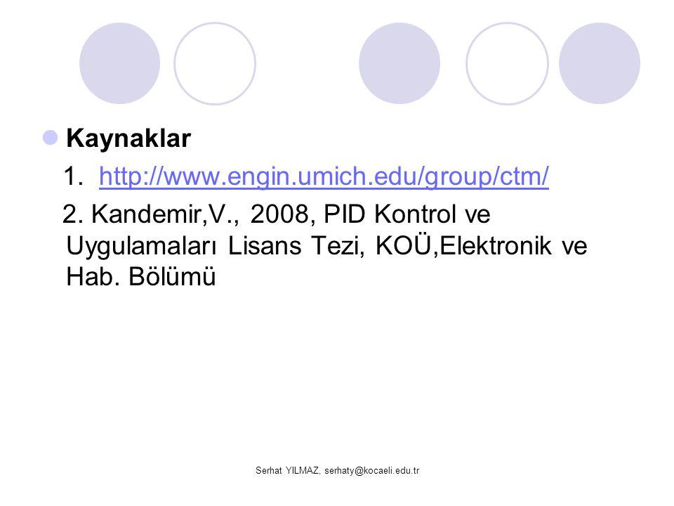 Serhat YILMAZ, serhaty@kocaeli.edu.tr