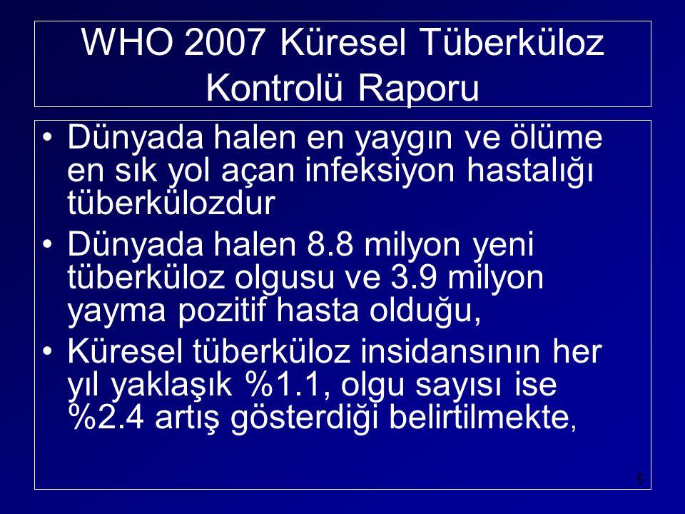 WHO 2007 Küresel Tüberküloz Kontrolü Raporu