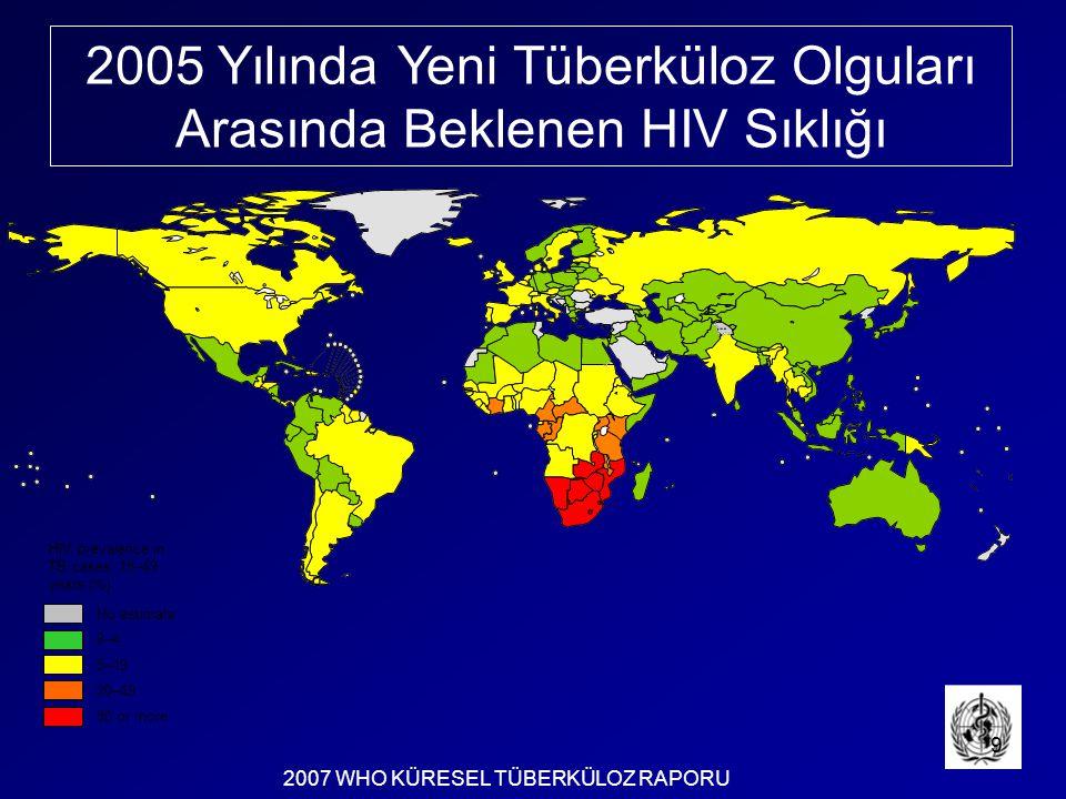 2005 Yılında Yeni Tüberküloz Olguları Arasında Beklenen HIV Sıklığı