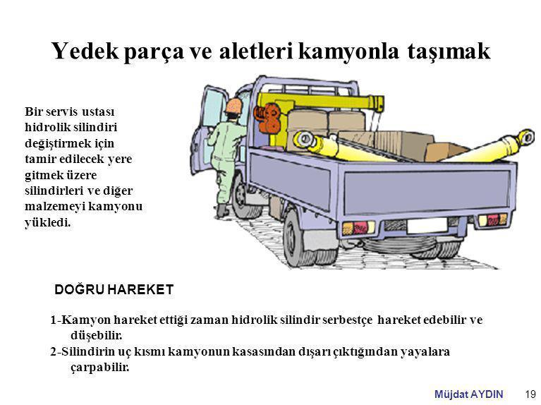 Yedek parça ve aletleri kamyonla taşımak