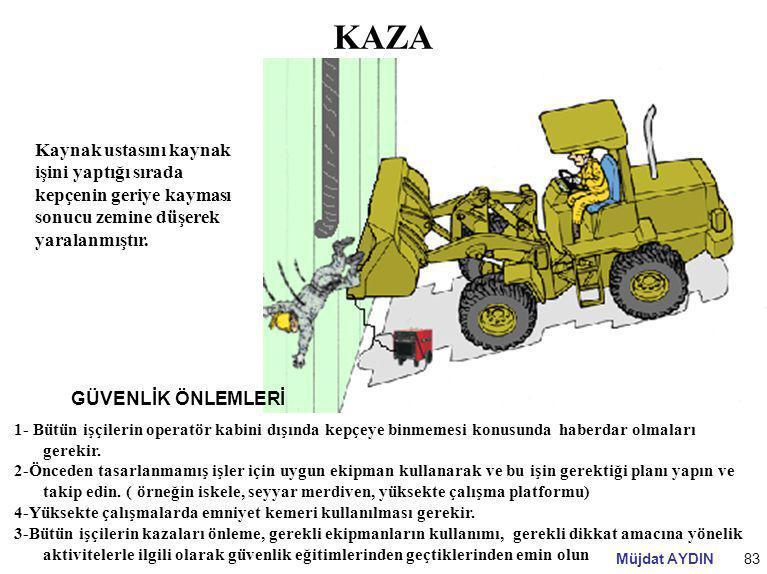KAZA Kaynak ustasını kaynak işini yaptığı sırada kepçenin geriye kayması sonucu zemine düşerek yaralanmıştır.