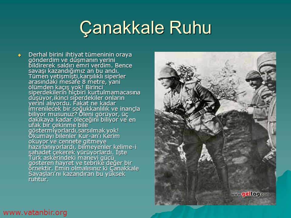 Çanakkale Ruhu www.vatanbir.org