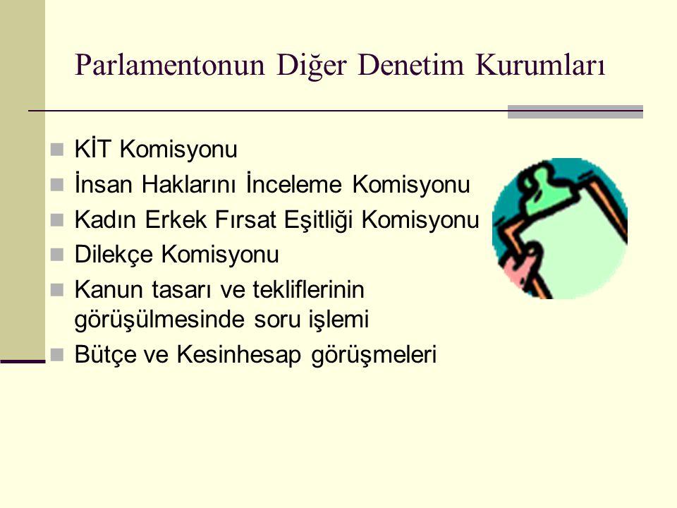 Parlamentonun Diğer Denetim Kurumları