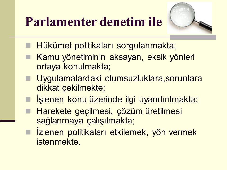 Parlamenter denetim ile