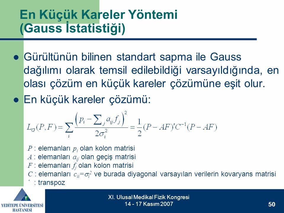 En Küçük Kareler Yöntemi (Gauss İstatistiği)