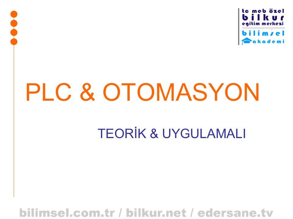 PLC & OTOMASYON TEORİK & UYGULAMALI