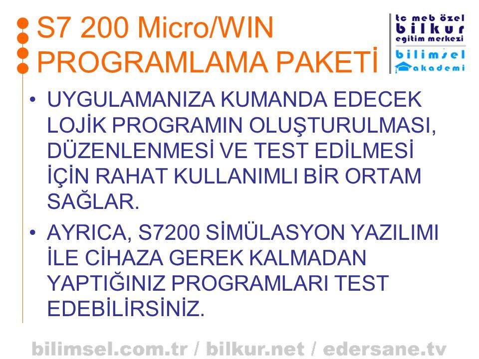 S7 200 Micro/WIN PROGRAMLAMA PAKETİ