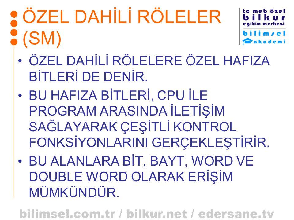 ÖZEL DAHİLİ RÖLELER (SM)
