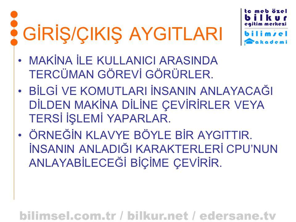 GİRİŞ/ÇIKIŞ AYGITLARI