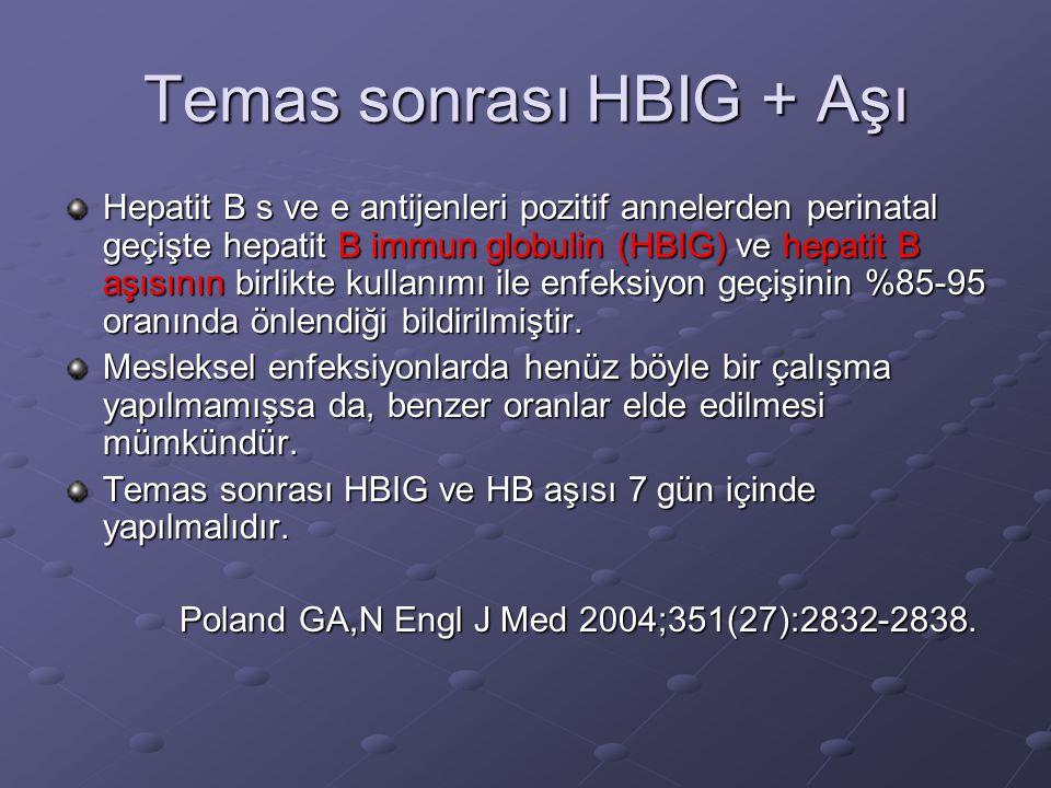 Temas sonrası HBIG + Aşı
