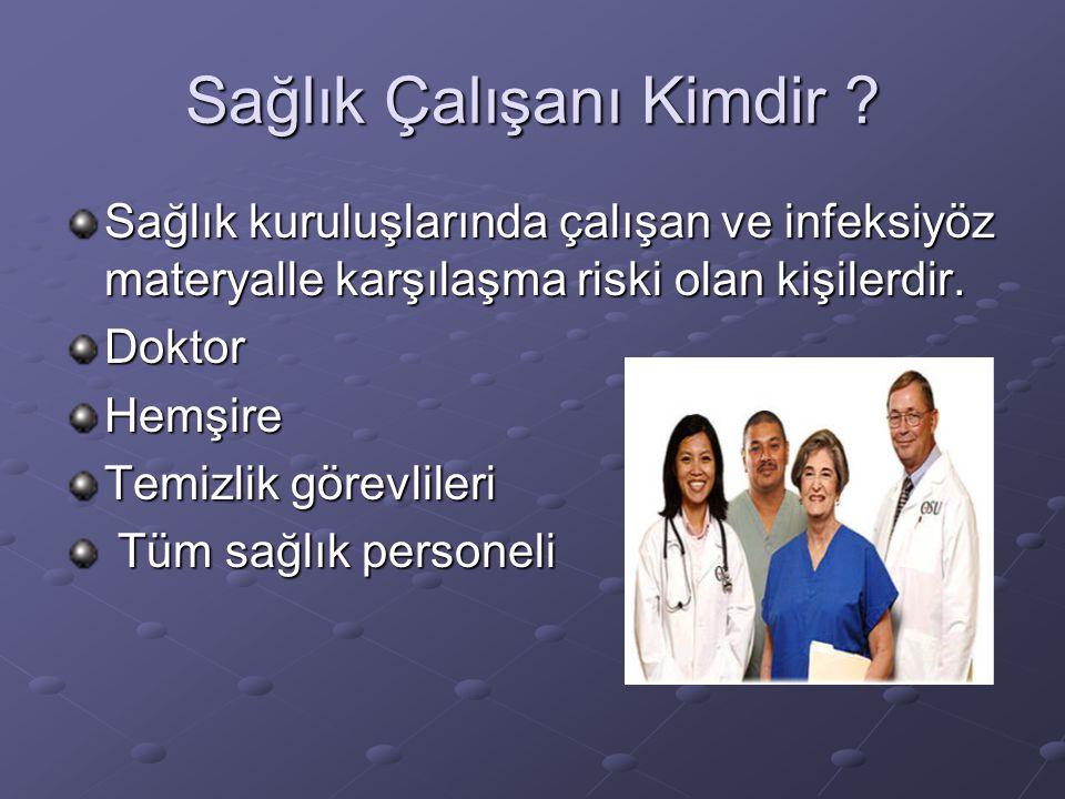 Sağlık Çalışanı Kimdir