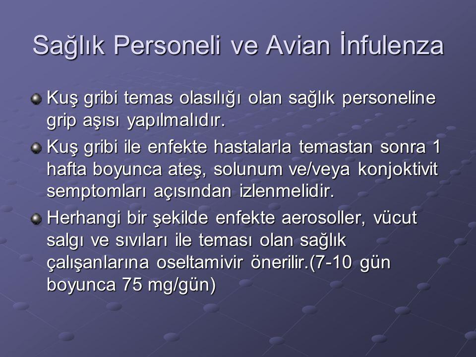 Sağlık Personeli ve Avian İnfulenza