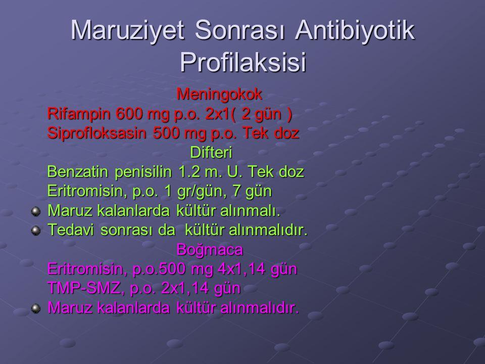 Maruziyet Sonrası Antibiyotik Profilaksisi