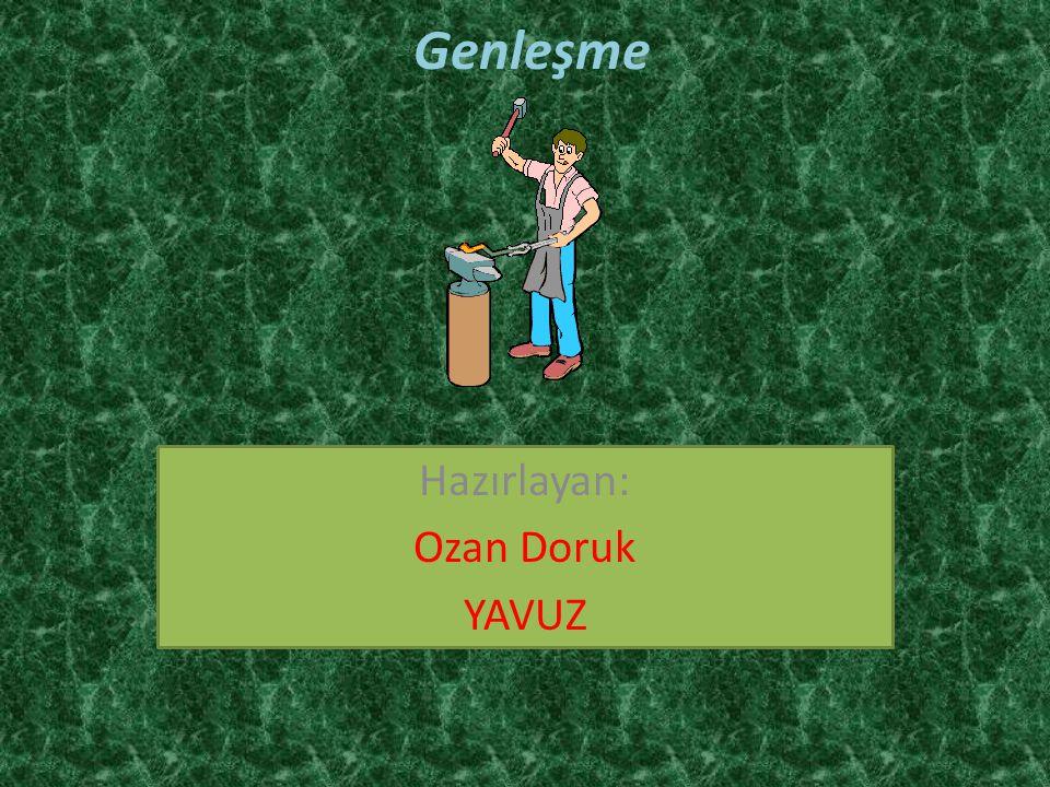 Hazırlayan: Ozan Doruk YAVUZ
