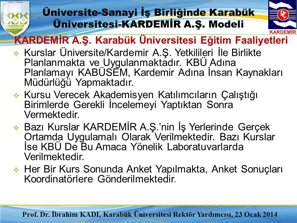 KARDEMİR A.Ş. Karabük Üniversitesi Eğitim Faaliyetleri