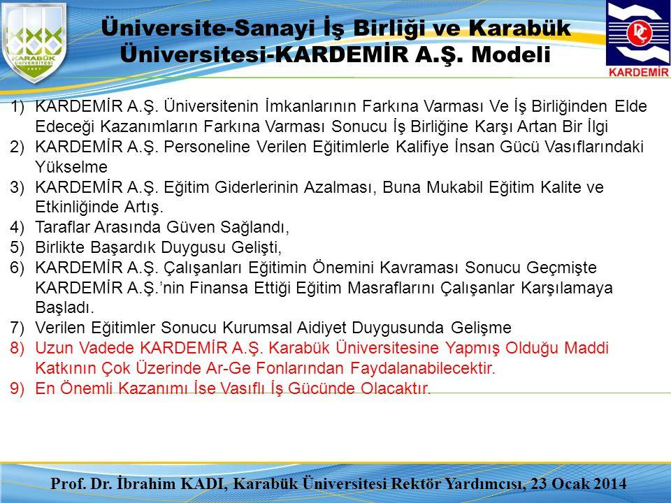 4/3/2017 Üniversite-Sanayi İş Birliği ve Karabük Üniversitesi-KARDEMİR A.Ş. Modeli.