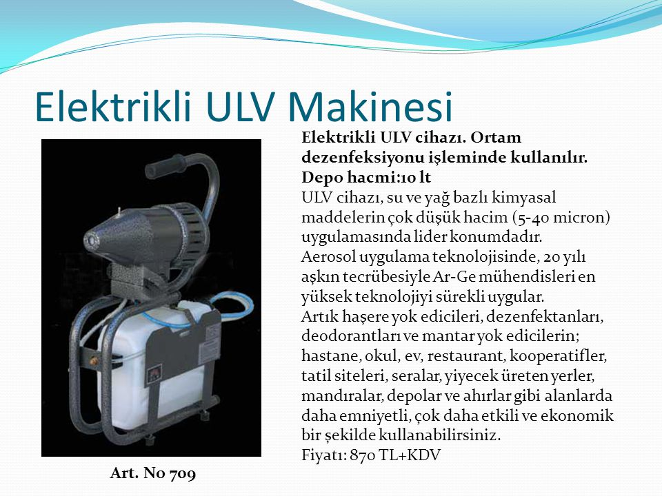 Elektrikli ULV Makinesi