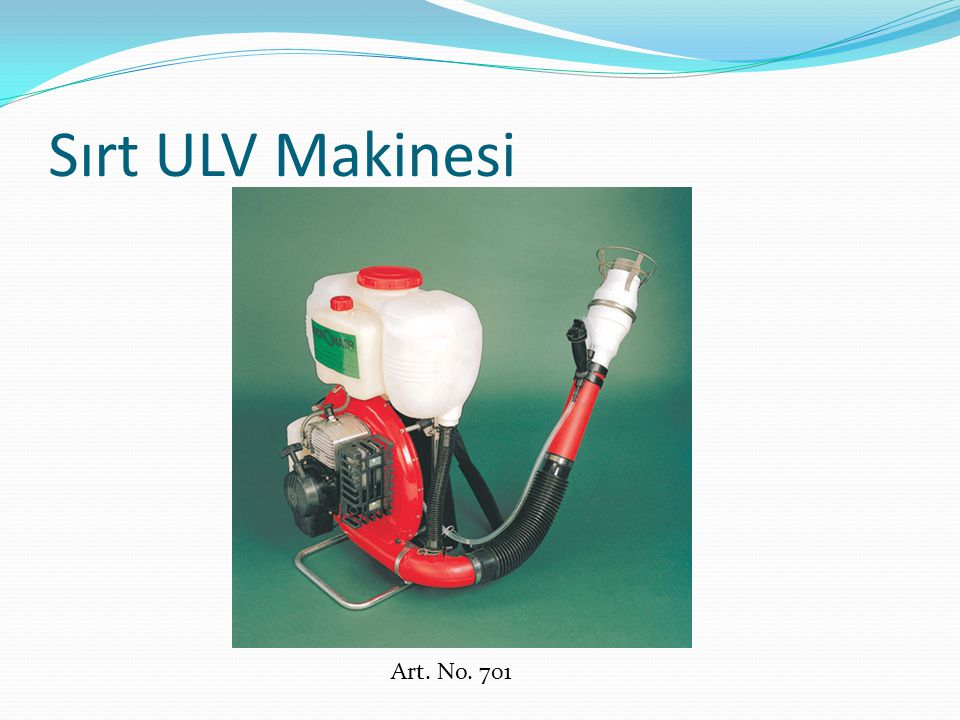 Sırt ULV Makinesi Art. No. 701