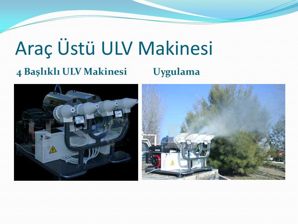 Araç Üstü ULV Makinesi 4 Başlıklı ULV Makinesi Uygulama