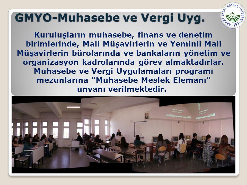 GMYO-Muhasebe ve Vergi Uyg.