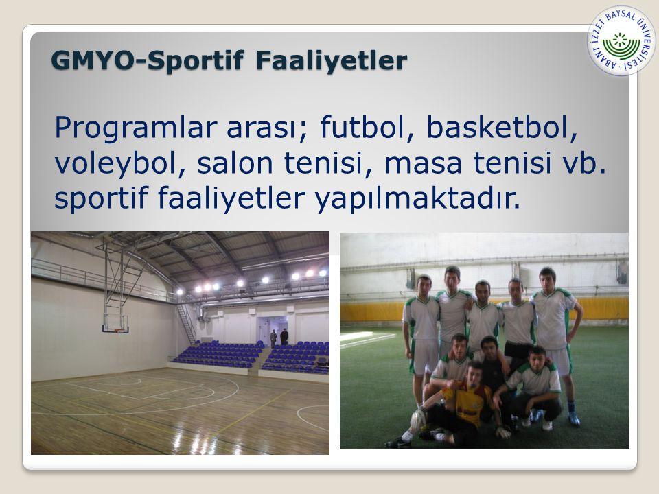 GMYO-Sportif Faaliyetler
