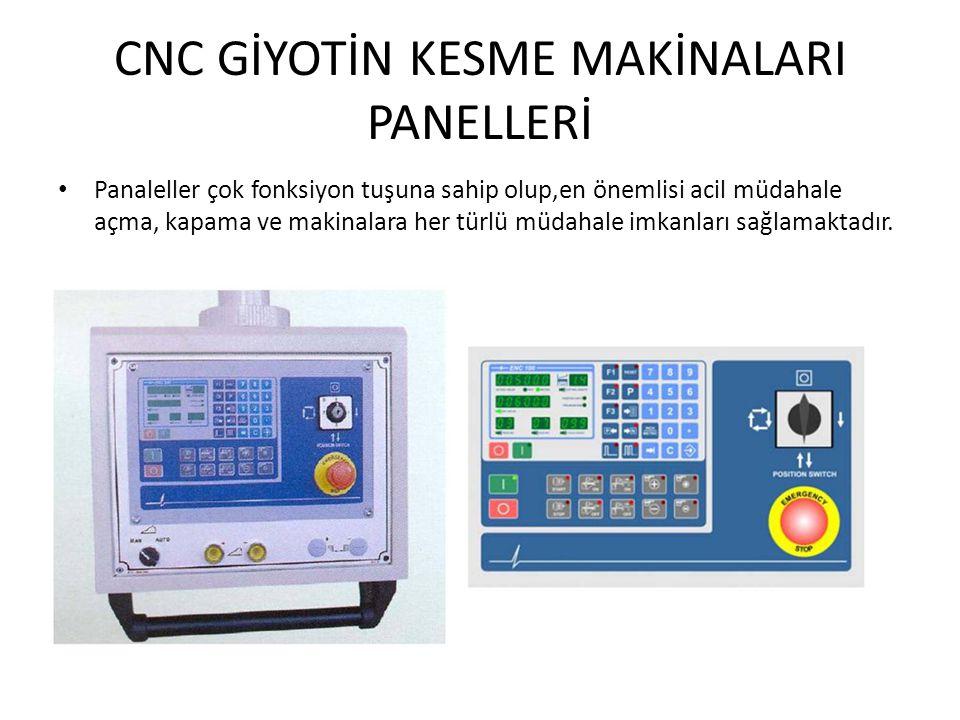 CNC GİYOTİN KESME MAKİNALARI PANELLERİ